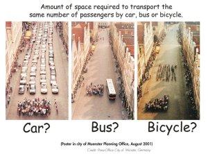 car bus bike